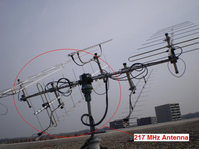 217MHz Antenna in tower